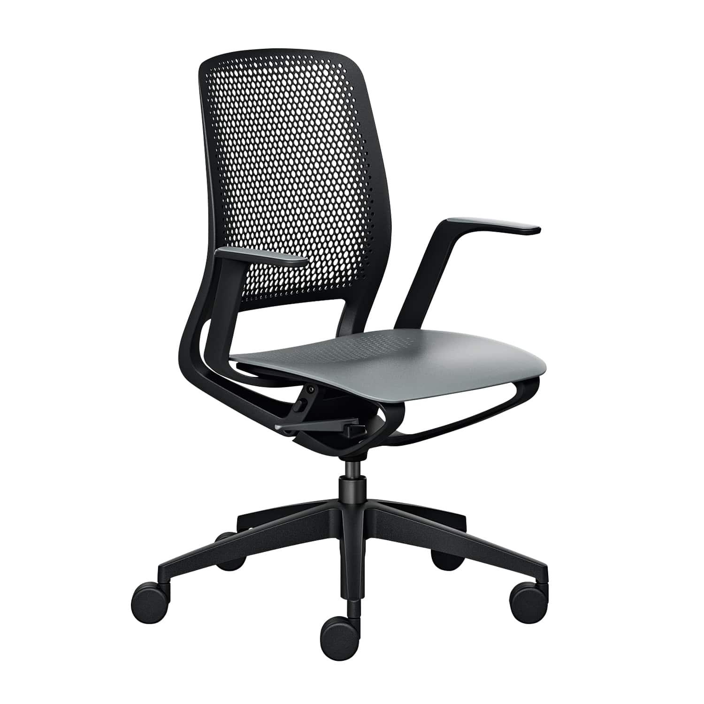 se:motion Schwarz, Mit Armlehnen, Sitz-und Rückenpolster, Ohne