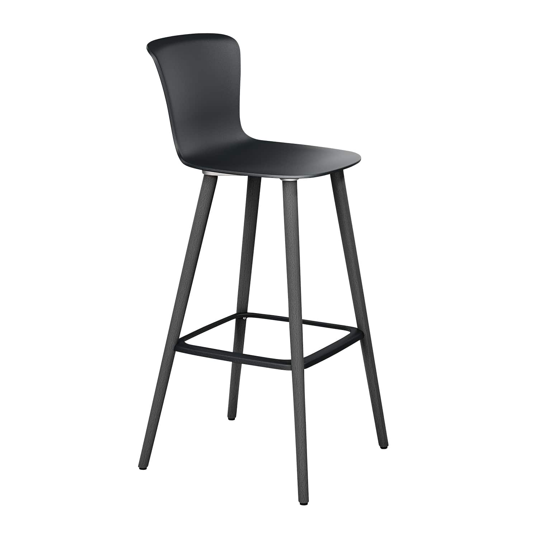 se:spot stool Vierfuß, Schwarz, Buche Schwarz
