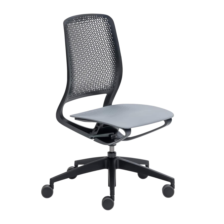 se:motion Schwarz, Ohne Armlehnen, Sitz-und Rückenpolster, Ohne
