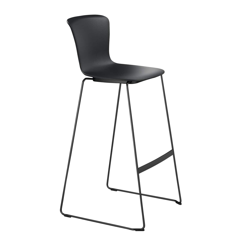 se:spot stool Kufen, Schwarz, Chrom