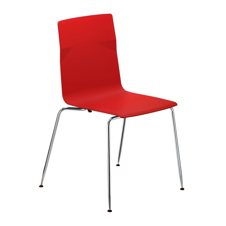 meet chair Rot, Vierfuß